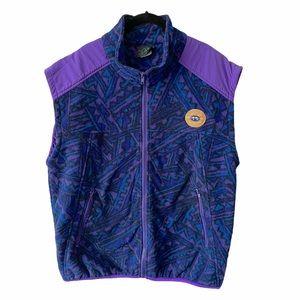 Vintage Whistler 90s Fleece Vest Purple Blue XL